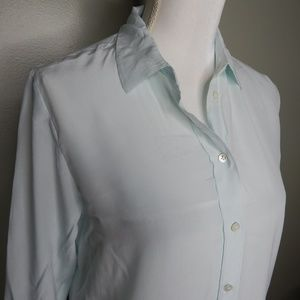 everlane woman silk shirt sz 0